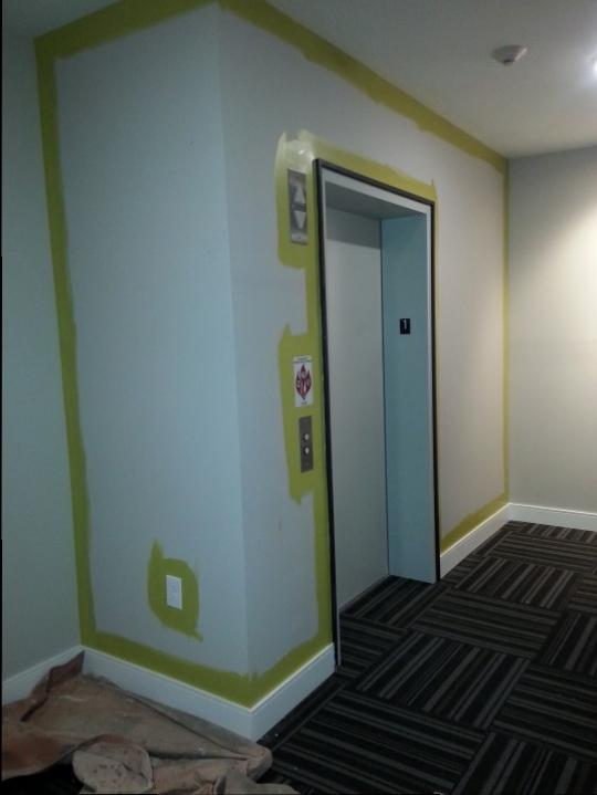 Elevator Hallway Before Commercial Office Westchester Ohio