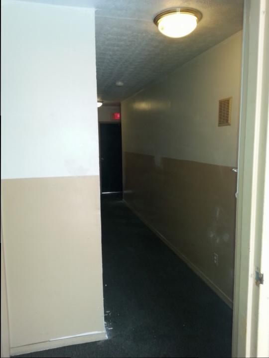 Commercial Building Hallway Before ~ Cincinnati Ohio