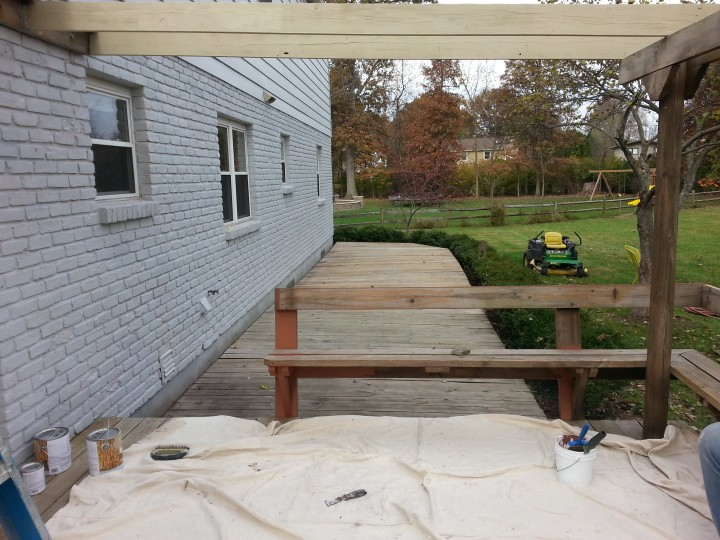 Before and After Deck Staining and Refinishing in Cincinatti, OH